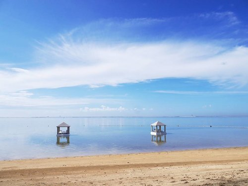 What a skyporn😍 #AmazingSanur #sanurbeach #beach #beautiful #Bali #purisantrian #beachsand #santrianlife #PesonaIndonesia #WonderfulIndonesia #sky #skyporn #sea #ocean #nature #naturelovers #lifestyle #traveling #travel #traveller #blue #gazebo #photooftheday #pictureoftheday #clozetteid #clozettteambassador