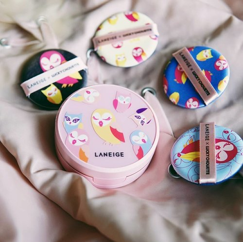 Meet Bella & Velly, latest @laneigeid collaboration with @luckychouette7! Look at how cute they are. Girls, I bet you can't resist buying this cushion ;) Thank you @laneigeid for the gift from the last #LaneigeKBeautyWeek ❤ #LaneigeMeetsFashion #laneigexluckychouettebbcushionpuff