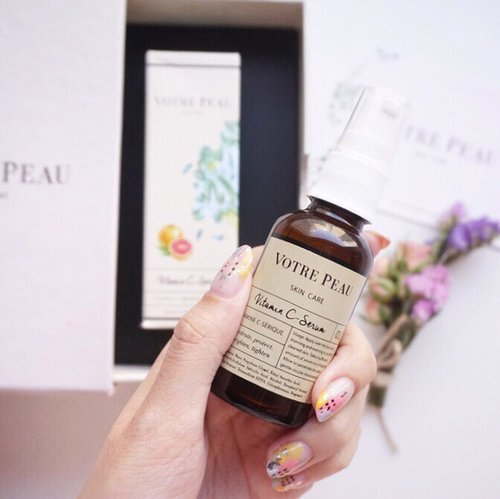 @votre_peau Vitamin C serum!! As a loyal fan of Vitamin C I'm beyond excited to find out that this product is produced locally 🇮🇩! Packaging wise it looks completely sleek and cute with the illustration details on it (I'm a lover of anything cute❤️) This product seems promising to me, can't wait to try them out and see how it works on my skin! ..P.s. My skin problem hasn't subsided yet I still do have active acne and pimples here and there that's why I'm excited to see how this product helps me fade my discoloration due to acne scars. ..-More on the @votre_peau Launching event at @lafayettejkt Soon on steviiewong.com ! @beautyjournal #beautyjournalxvotrepeau#beautyjournal#votrepeauatlafayette #Votrepeauskincare ................ #styleblogger #vscocam #beauty #handsonframe  #beautyblogger #skincare #fashionpeople #fblogger #blogger #패션모델 #블로거  #스트리트스타일 #vitamincserum #스트릿패션 #스트릿룩 #스트릿스타일 #패션블로거  #style #ggrep  #bblogger #clozetteid