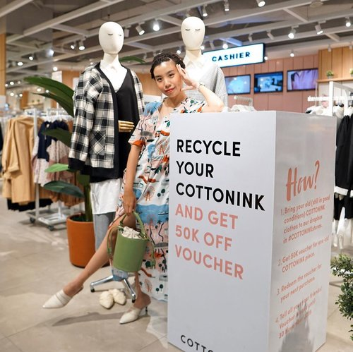 Make rooms for better things to fall in place ! Thus you'll have to make space for it... let's donate and recycle your old @cottonink pieces at #COTTONINKstores and get 50k voucher for every 1 (one) recycled piece which you can use on your next purchase. // 📸 @priscaangelina . . . . . . . . . #whatiwore #steviewears #playful  #womensfashion #fashionistas #ootdbloggers #bloggerstyle #fashion #wiwt #lookoftheday #styleinspo #instastyle #styleblogger  #fashionblogger #fashionpeople #fashioninfluencer #style #clozetteid #ootd #RecycleYourCOTTONINK