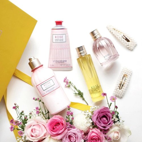 Still in the Valentines spirit 🌹❤️ look at these adorable Rose collection from @loccitane_id #LOccitaneID !! The rosy scent is so soft and warm that it makes heart flutters 🥰 you can also layer the different Rose fragrance of parfume and EDT to create a different mood . Are you feeling happy, relax or ready to challenge the day? Get all your mood lifted with this new L'Occitane Rose Eau de Toilette which is fun and you can customize it according to your mood. 💕 . . . . #flatlay #shotbystevie #collabwithstevie #beauty #flowers #rose #exploretocreate #clozetteid #sonyforher