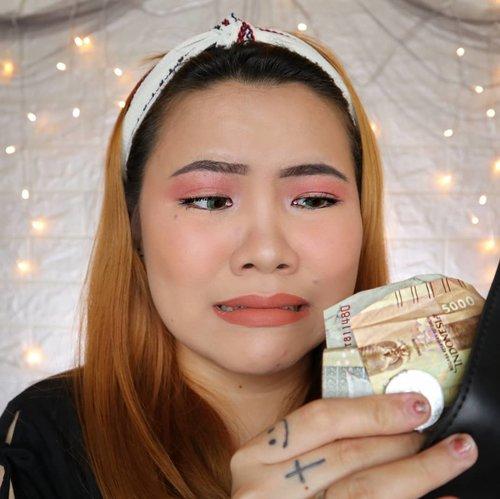 Mau jajan bobba, buka dompet, eh tinggal 7200. AQ GPP 🙃........#clozetteid #flovivi #beautybloggerindonesia #makeuptutorial #tutorialmakeup