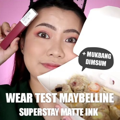 [WEAR TEST] MAYBELLINE SUPERSTAY MATTE INK New Shades Pink Edition no 160 Mover . Warna nya gila cakep bgt 😍 Hayuuh kita tes makan DimSum wkwkwkw . . . . 🎥Camera Canon EOS M100 🎛️Edit with @vivavideoapp Pro . . . . . . . #makeupoftheday #tutorialmakeup #Tutorialdandan #makeuptutorial #allmodernmakeup #slave2beauty #peachyqueenblog #tutorialmakeup #indobeautygram #makeupoftheday #beautybloggerindonesia #motd #popbelabeauty #flovivi #ClozetteID #cchannelid #cchannelbeautyid #undiscoveredmuas #worldwidemua #wakeupandmakeup #tipsskincare #skincare #cchannelmakeupid @tampilcantik @tips__kecantikan @tutorialmakeup_id @ragam_cantik @meriaswajah @syantiktutorial @ragam_kecantikan @zonacantikwanita @101_turorialmakeup @makeupsyantik @inspirasi_cantikmu @wowsyantik @elpeach_beauty @eliberry_beauty