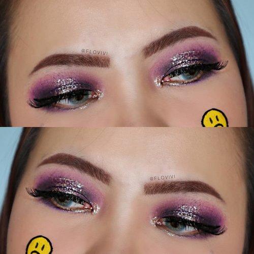 Purple + Glitter = AMAZING 💜.Produk yg dipakai :@ucanbemakeup Fruit Pie Filling Eyeshadow@focallurebeautyid @focallurebeauty glitter liner no 1.#makeupoftheday #tutorialmakeup #Tutorialdandan#makeuptutorial #tutorialmakeup #indobeautygram #makeupoftheday #worldwidemua #aestheticmakeup #aesthetic  #beautybloggerindonesia #motd#popbelabeauty #flovivi #undiscoveredmuas #ClozetteID #cchannelid #cchannelbeautyid@tampilcantik @tips__kecantikan @tutorialmakeup_id @ragam_cantik @meriaswajah @syantiktutorial @ragam_kecantikan @zonacantikwanita