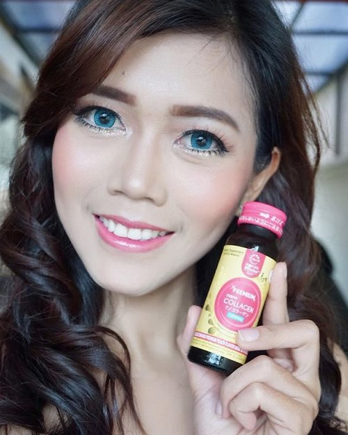 Beauty inside & outside that I got from this @agelezbihakuid Premium Nano Collagen is 1st most advanced liquid collagen supplement with nano-sized made in Japan and now available in Indonesia, that combines 13500mg Premium Nano Collagen with Fast Absorb SystemTM, Salmon Ovary Peptide, Brown Rice Stemcell (Phyto-Ceramide) and 8 other premium ingredients that will synergistically restore your skin natural glow and help reduce the signs of aging from inside out.  #beauty #blogger #fdbeauty #beautyblogger #indonesianbeautyblogger #beautybloggerid #potd #motd #makeup #skincare #mymakeup #premiumnanocollagen #clozette #clozetteid #clozetteambassador #review #asiangirl