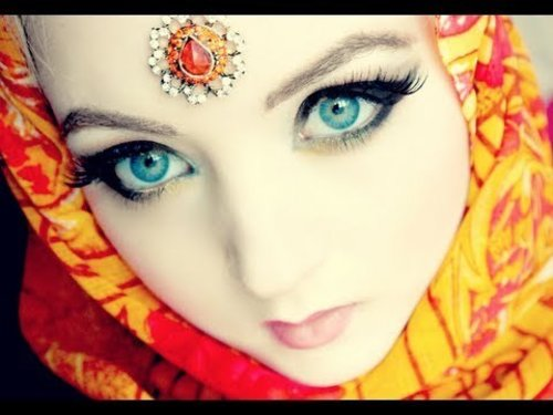 Arabic or Indian Doll Makeup - YouTube
