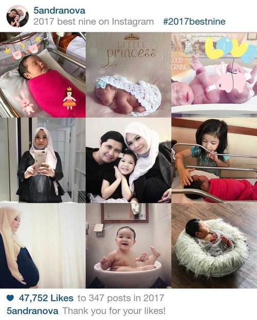 Biar kekinian 😆 Ternyata best ninenya seputar foto hamil & bayi-bayi ❤️😍 . . #bestnine2017 #family #kesayangan #clozetteid #instafamily #myinstagram #motherhood #motherhoodmoments #instamommy #motherlove #loveofmylife #bestphoto #familyfirst #familytime