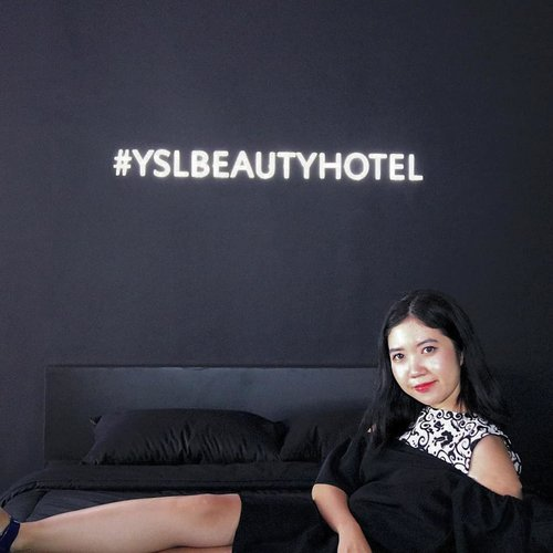 Still can't move on from last weekend event #yslbeautyhotel #yslbeautyhotelid . Amazing installation with amazing friends! Good job @yslbeauty ! Congrats kak @anggarahman for the event! . . #yslbeautyid #yslbeauty #behindmykiss