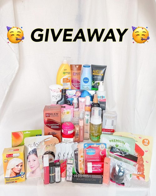 🥳GIVEAWAY WORTH 2.5JUTA++🥳 - 5 orang pemenang akan mendapatkan hadiah masing2 worth 500Ribuan  - Caranya gampang banget : 1. Follow instagram @reginabundiarti @isnadani @khansamanda @agaxpe @arvi.n 2. Follow tiktok kita yaa @reginabundiarti @isnadani @khansamanda @agaxpe @arvi.n (bisa cek di bio) 2. Follow blog kita (coba cek di bio ya!) 3. Subscribe ke youtube channel kita (link di bio) 4. Comment done SATU KALI AJA disini dan tag 3 teman kalian yaa  5. Repost foto ini di story kalian, tag kita dan 3 teman kalian gunakan hashtag #CantikCantikHoki  6. Spam likes foto kita semua ya 😋 7. Be active di semua social media kita yaa 😚 8. NO Fake account, NO akun online shop ataupun akun khusus giveaway. Kalo kamu melanggar, kamu di diskualifikasi yaa☺️ 9. Periode giveaway 3 MAR - 3 APR 2021 10. Please be nice and polite! I really appreciate it 🙏🏻💓 11. Indonesian only 🥰 12. Good luck ☺️ - Ps. Tidak di pungut biaya apapun ya, ongkir kita yang tanggung. Jadi ini totally free 🥰  GOOD LUCK! - #giveaway #kontesgiveaway #giveawayindo #giveawayindonesia #giveawayhunter #giveawaymakeup #giveawayskincare #makeupgiveaway #makeup #clozetteid