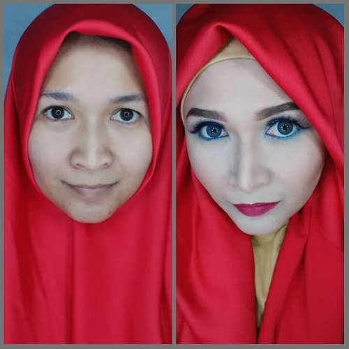 Which do you like?  Before or after? #clozetteid #godiscover #silkygirl #makeupbyedelyne #hijabbyedelyne #indonesianbeautyblogger #mua #muaindonesia #riasmuslimah #hijabers #modelmuslimah #endorsement #freelancemakeupartist #freelancemua #freelancemodelhijab #beforeafter #hijabellamagazine #hijabmodern #hijabfashion #instahijab #lookbookindonesia #vegas_nay #wakeupandmakeup #makeupartistsworldwide #makeupaddict #dressyourface #makeupartist