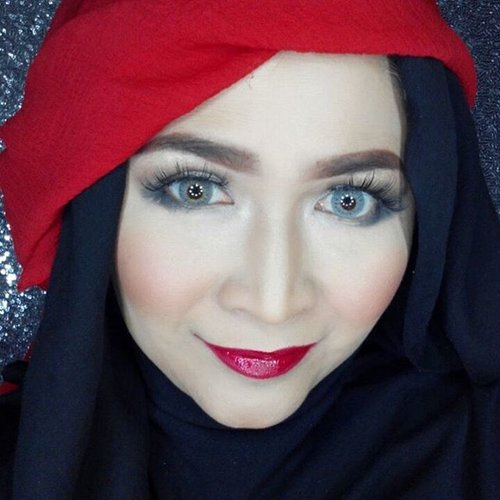 I support #teambloodymary  @getthelookid  #turnoncolor #lorealparisid #makeupcontest #truematch #colourriche #makeupbyedelyne #hijabbyedelyne #starclozetter #clozetteid #makeup