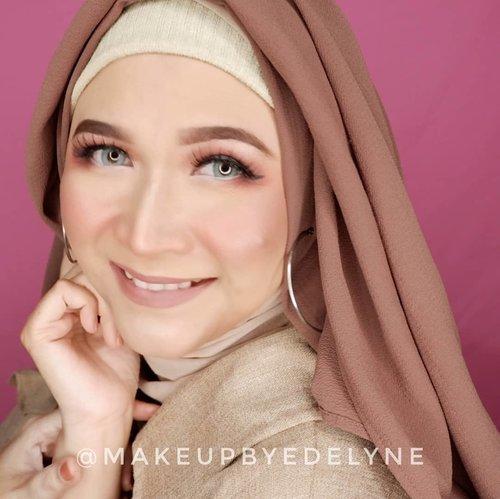 Selamat pagi.... #brushedbyedelyne #makeup #clozetteid #makeupandhijab #hijablook #makeupoftheday #bloggerstyle #hijabchamber #hijab #wakeupandmakeup #bandungbeautyblogger