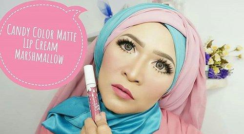 Hello from @candycolorcosmetics matte lip cream.#makeupbyedelyne #hijabbyedelyne #makeup #makeupartist #makeupartistbandung #mua #riasmuslimah #riaswisuda #makeupwisuda #wakeupandmakeup #fashionhijab #makeupfashion #beautyblogger #starclozetter #clozetteid #muabandung #muatasik #muaindonesia #makeupjunkies #makeupmafia #barbiemakeup #makeover #dollylook