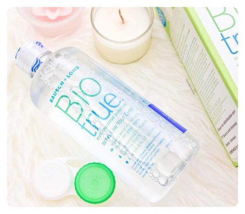 Looks so fresh, rite? It's actually a contact lens water solution by @bauschlomb @biotrue_solution Here is why this product is my favourite : 1. Contain Ph balanced to match healthy tears and Hyaluronan (HA), the same lubricant found in our eyes. It works wonder on my sensitive eyes. Based on my experience, I don't need to apply it often since it hydrates my contact lens very well. Also kills 99.9% germs and they promised up to 20 hours of moisture! 2. Available on nearest drugstore! 3. With all those benefits and a fresh packaging, it comes with affordable price.  I am a happy customer!  #beautyreview #beautyblogger  #beautyblog  #review #beautyreviewed #beautyreviews  #reviewrs  #eyeblogbeauty #follow4follow  #beautyreviewrs  #beautyreviewer #clozetteid #clozette