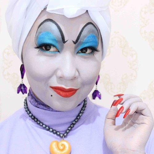 Good morning everyone!  #ursula #littlemermaid #disney #villain #allseebee #ibvsfx #indobeautygram #clozetteid #clozettehalloween #halloween