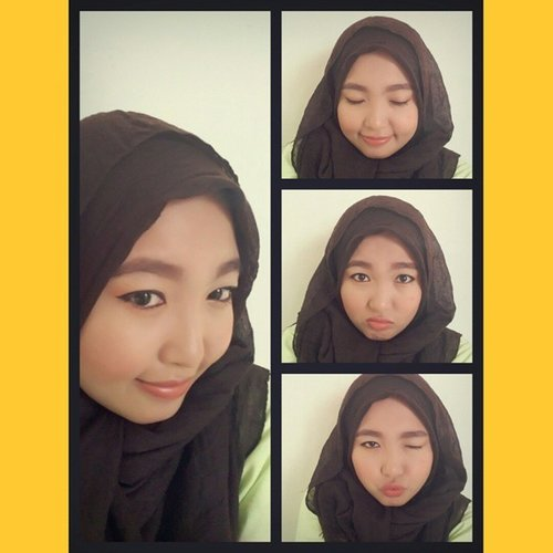 Trying my new app with my hijab xixixixi... #hijab #hijabers #hijabfashion #hijabstyle #hijabella #hijabup #clozetteid #clozette #cute #instapic #makeup #macak #mainstreambanget #lifeonthemove