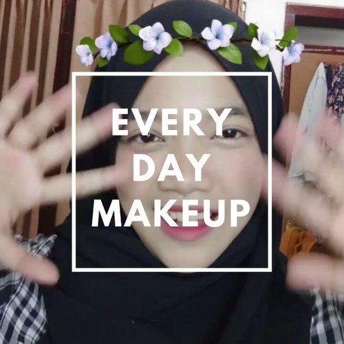 "EVERYDAY 3 MINUTES 🕐 Makeup Tutorial . Makeup natural 3 menit ? Bisa banget. Kali ini aku nyoba bikinin video makeup tutorial cuma dengan 3 produk, yaitu base (cushion), corrector (concealer), dan lipstick. Masing2 dipake 1 menit 👌 Karena sebenernya cukup dengan 3 produk itu, wajah udah keliatan seger kok. Ga perlu ribet pake eyeshadow, eyeliner dll. Bahkan sebenernya dandan dengan minimal makeup ini bisa bikin kita terkesan ""I woke up like this"" hhi 😂 . Products : @maybelline Fit Me Concealer - Shade 25 @etudehouseofficial Matte Chic Lip Lacquer - Wendy Brown @vtcosmetics_official VT x BTS Black Collagen Pact Cushion . . #ragam_kecantikan #makeuptutorial #koreanmakeup #indobeautygram #indobeautyvlogger #wakeupandmakeup #makeupoftheday #beautybloggerindonesia #ivgbeauty #glowingskin #makeuplife #tutorialmakeup #indovidgram #indonesianbeautyblogger #makeupvideoss #makeupcoach #1minutemakeup #tampilcantik #bunnyneedsmakeup #beautyvloggerid #koreanmakeup #minivideomakeup#beautyvloggerindonesia #indobeautymakeup #clozetteid @beautybloggerindonesia #CChannelBeautyID @indobeautygram @indovidgram @bunnyneedsmakeup @bvlogger.id @ragam_kecantikan @tampilcantik @makeupgalss @beautychannel.id @indobeautymakeup @cchannel_beauty_id @clozetteid"