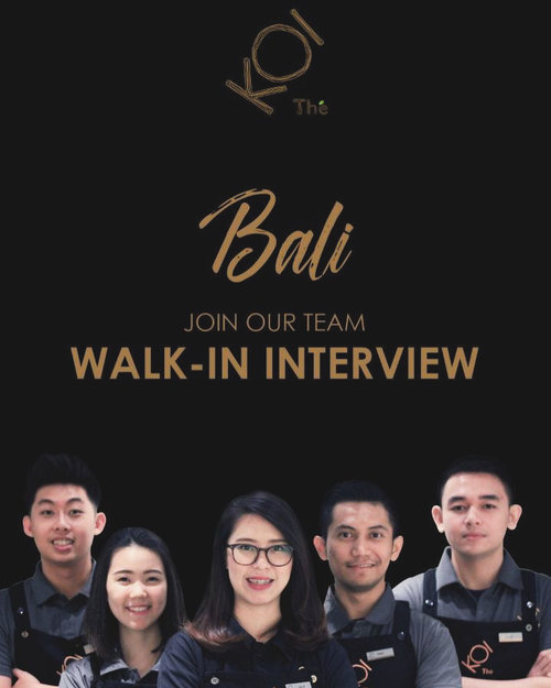 Finally my fav bubble tea will open in #Bali !!!! Before open a new store, NOW they're open a Walk In Interview!!!!! When and Where??On 13-14 June in Atanaya Hotel Bali - Anjaya Room..BUT before you came, register yourself first in 👉🏻👉🏻 www.karirkoi.com Don't miss the chance to be part of @koitheindonesia team🙌🏻
