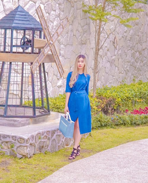 Skies are blue and so is my dress 💙 . . . #clozetteid #bloggersurabaya #beautybloggersurabaya