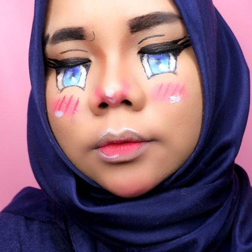 Sudah ternyata ya buat #animemakeup kaya gini huhu. Maunya buat character yang cheerful gitu tadinya, eh salah dikit belokan matanya berubah jadi mellow gini wkwkwk.Inspo: @abbyroberts yang terispirasi juga dari @lanceaguas ehehe---Details:• @pac_mt New Contouring Kit• @lancomeofficial Teint Idole Ultra Wear Foundation 051• @yslbeauty Couture Eyeliner 1• @purbasarimakeupid Hi Matte Lip Cream 05 Freesia• @beautyglazed Color Studio Pressed Powder Eyeshadow• @pondsindonesia Pond's Magic Powder BB---#wakeupandmakeup #undiscovered_muas #makeuptutorialsx0x #allmodernmakeup #ivgbeauty #makeupforbabesx #tampilcantik #tutorialmakeuplg@100daysofmakeup #100daysofmakeup#100daychallenge @beautybloggerindonesia #beautybloggerindonesia #beautiesquad @beautiesquad @indobeautysquad #indobeautysquad @indobeautygram #indobeautygram #clozetteid #motd