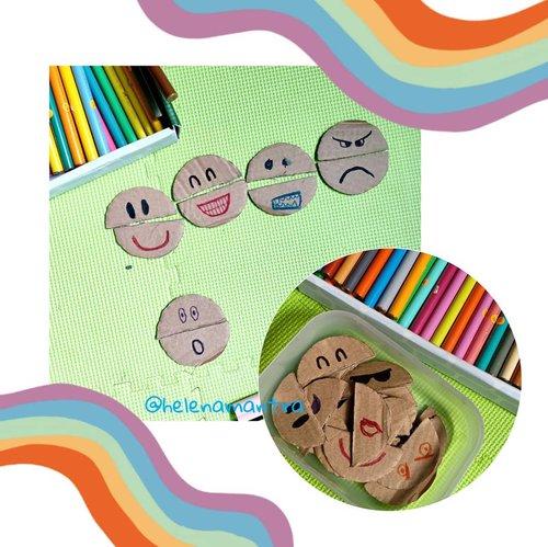 What's your current mood?   Tools and materials: Cardboard Scissors Coloured markers  Have fun!   #helenamantrastory #homeschooling #homeschooler #sekolahrumah #hsusiadini #parentingindonesia #parentingblogger #ideliburananak #idemain #playidea #playtime #maindirumah #maindirumahaja  #diytoys #cardboard #diycardboard #mainankardusbekas #kardusbekas #zerowaste #gogreen #diycardboard #diycardboardplay #playideas #teachermum #playandlearn #recycleandplay #recycletoys #recycled #sekolahalamsemesta #clozetteID
