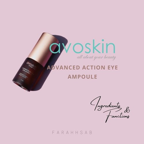 Hello beauties! 🤍 My review post about Avoskin Advanced Action Eye Ampoule is out! ☺ I've been using this for about 2 to 3 weeks.  See my results of using this eye ampoule at www.farahsab.com 🤗 @avoskinbeauty @beautiesquad #TheYouthfulEyes #beautiesquadxavoskin #beautiesquadreview