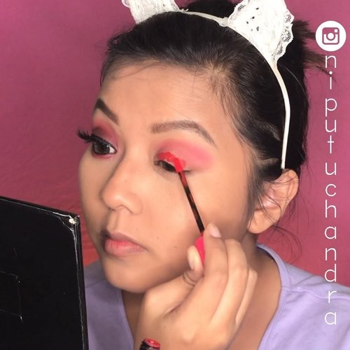 Details on how I do the previous #makeupkartini 👸🏻•Details:#mizzu Gradical Eyeshadow 'Ma Cherie'#pixy Lip Cream '03 Classic Red'#coastalscents Ultra Shimmer Palette#paccosmetics Color Festival Eyeshadow 'Angel Eyes'#fanbo Eyeliner#purbasari Lip Cream '05 Freesia' ➡️ my favourite red lipcream❣️•#purbasarilipcream #purbasarimatte #pixylipcream #ivgbeauty #indovidgram #indobeautygram #bunnyneedsmakeup #tampilcantik #undiscovered_muas  #eotd #underratedmuas #abhbrows #clozetteID #urbandecay #indobeautysquad #beautybloggerindonesia @tampilcantik @indobeautygram @indobeautysquad @bunnyneedsmakeup @beautybloggerindonesia