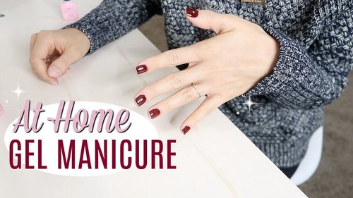 DIY GEL NAILS AT HOME // Affordable, Easy, Lasts 3 Weeks // Simply Allie - YouTube