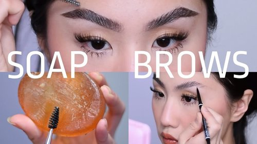 SOAP BROWS TUTORIAL: microblading fluffy effect - YouTube