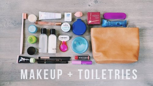 How to Pack Makeup + Toiletries in ONE BAG | Travel Hacks - YouTube