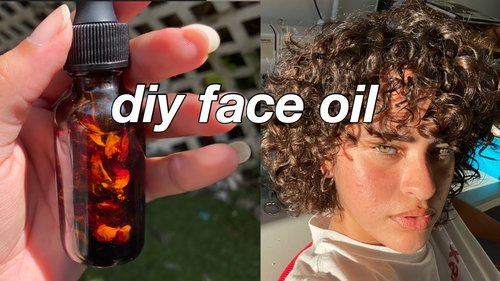 DIY FACE OIL   Rose Infused Facial Oil for Acne, Oily, Dry, Aging & Glowing Skin - YouTube