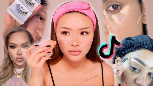 Full Face of Tik Tok Makeup Hacks 🤔✨ | SACHEU - YouTube