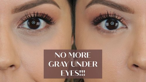 NO MORE GRAY UNDER EYES!!! HOW TO: CONCEAL DARK CIRCLES WITHOUT IT TURNING GRAY - YouTube