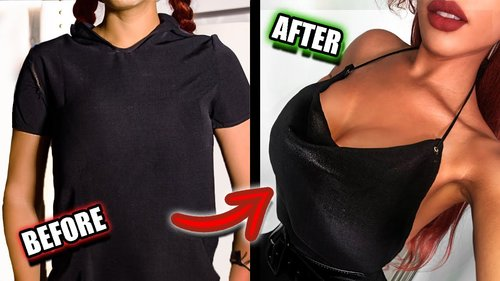 """DIY """"PARTY"""" TOPS FROM OLD SHIRTS! (NO-SEW) - YouTube"""
