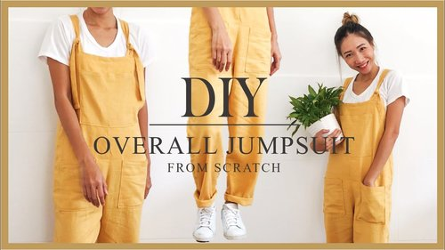 DIY Overall jumpsuit from scratch - Step by step tutorial - YouTube