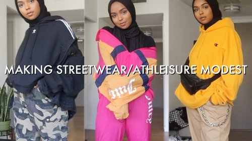 5 Hijabi Friendly Streetwear/Athleisure Outfits! | Shahd Batal - YouTube