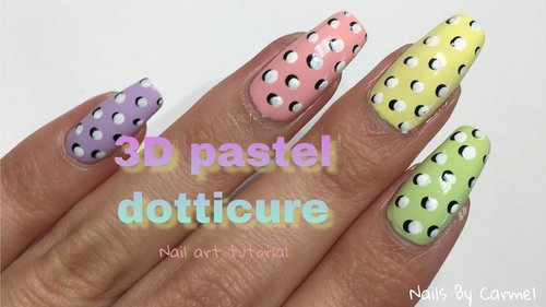 3D Pastel Dotticure - Nail Art Tutorial - YouTube