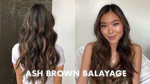 DARK TO ASH BROWN BALAYAGE ASIAN HAIR // HAIR VLOG - YouTube