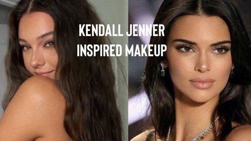 kendall jenner inspired makeup - YouTube