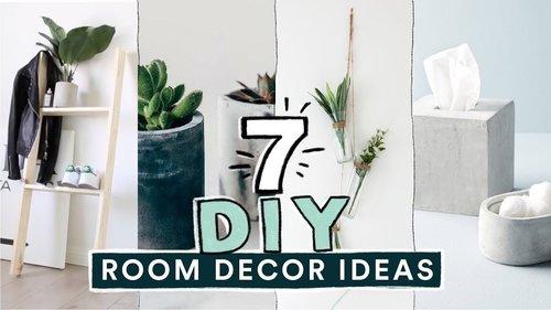 7 DIY EASY ROOM DECOR IDEAS! (Pinterest Inspired) // Lone Fox - YouTube