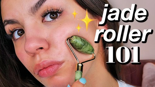 HOW TO USE A JADE ROLLER STEP BY STEP TUTORIAL - YouTube