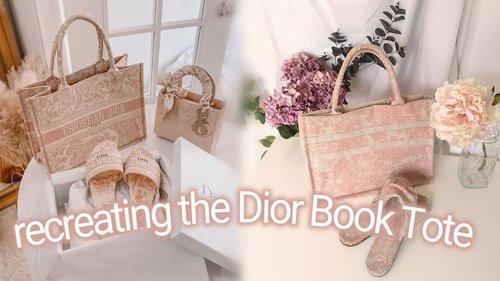 DIY Dior Book Tote Bag - recreating the Dior Book Tote Bag - DIY Book Tote Bag - YouTube