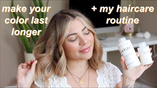 HOW TO MAKE YOUR HAIR COLOR LAST LONGER + MY UPDATED BLONDE HAIRCARE ROUTINE - YouTube