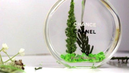 How to decorate  used perfume bottles ! DIY USED PERFUME - YouTube
