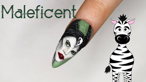 3D Maleficent Acrylic Nail Art Tutorial | MelodyMinutes - YouTube