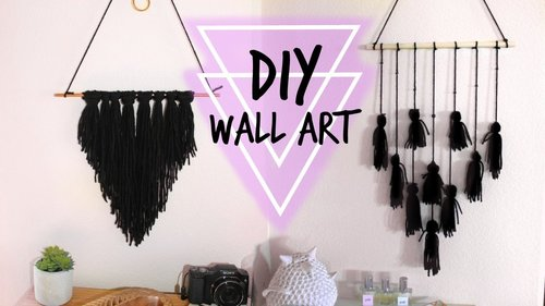 DIY BOHO INSPIRED WALL ART//ROOM DECOR!!!! - YouTube