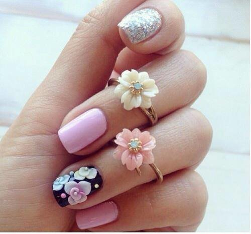 Nailart#Week#Inspiration#Fleurrose#Creation