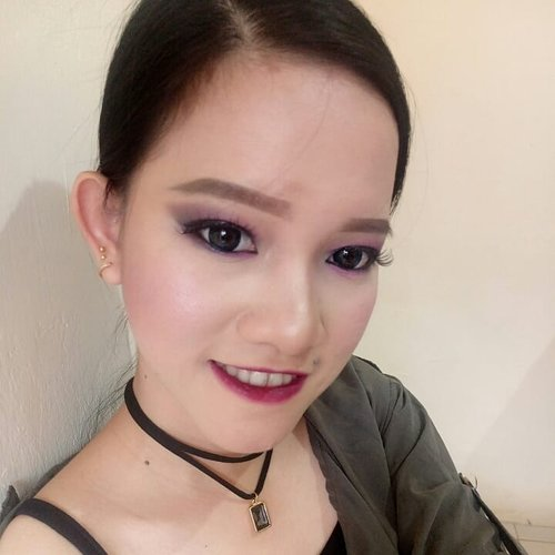 i create makeup for submission @eblushid @lakmemakeup #eblushxlakmé #eblushgiveaway #lakmemakeup . purplish soft smoky eyes.. bisa jdi ide makeup kalian buat dtang ke acara end year party. . . product detail : FACE - sephora smoothing primer @sephoraidn - 10HR wear perfect foundation (beige) @sephoraidn mixing revlon colorstay foundation (ivory) @revlonid - natural loose powder @elsheskin  EYEBROW - lovely me ex eyebrow (grey brown) @thefaceshopid - color my brow mascara (rich brown) @indonesia_etudehouse  EYES - cover n go concealer @allyoung.id - eyeshadow base @nyxcosmetics_indonesia - eyeshadow (unbranded) - eyelashes (unbranded) - hypersharp liner (black) @maybelline - styling eyeliner (black) @indonesia_etudehouse  CHEEK - Lovely cookie blusher (rasberry tarte) @indonesia_etudehouse - Lovely me ex blusher (rose) @thefaceshopid - contour kit @makeoverid  GRADIENT LIPS - Advanced lip fix cream @beauteous_you - pixy lipcream (edgy plum) @pixycosmetics - sariayu color trend 2015 (P03) @sariayu_mt - Dear darling tint (vampire red) @indonesia_etudehouse  LENS @kawaigankyu . . . . . . #beauty #beatyjunkie #makeupaddict #makeuptutorial #makeupjunkie #makeup #motd #fotd #potd #look #instadaily #l4l #allmodernmakeup #blogger #indobeautygram #igers #instagood #portrait #vscocam #vscobest #instabeauty #instamakeup #undiscovered_muas #picoftheday #MUA #muajakarta #clozetteid