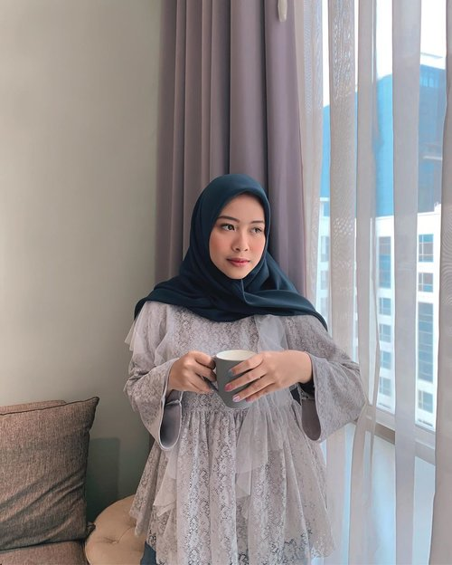 Selamat hari senin 🤍 — top by @hijabchic (as always) #ClozetteID