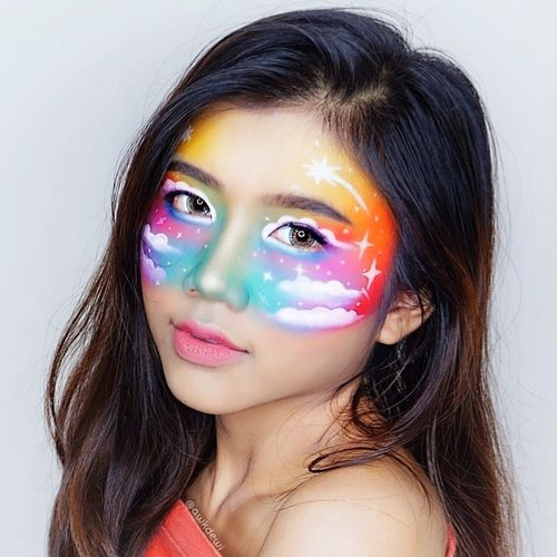 Rainbow sky🌈.Product use: Update ntar :v.Recreate: @laveniaoldriana 😂😝#clozetteid #indobeautysquad